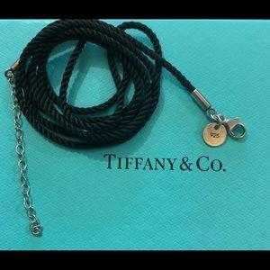 Authentic Tiffany & Co Silk Rope Chain w/925 Silver Hardware